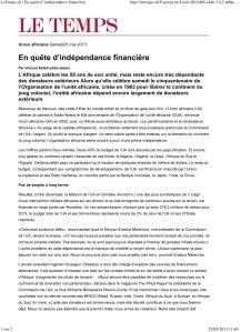 LeTemps.ch | En quête d'indépendance financière