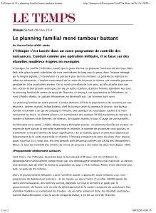 LeTemps.ch | Le planning familial mené tambour battant
