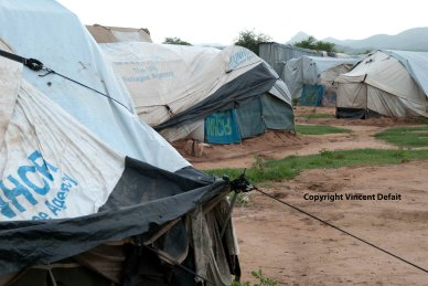 Ethiopia, September 2015 - Over 47.000 Eritreans live in the Hitsats refugees camps in Ethiopia, near the border. The newly arrived stay in UNHCR tents. The other live in concrete houses. Opened in 2013, the camps quickly reached its full capacity.