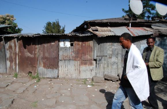Ethiopie, Addis-Abeba - avril 2015. Dans le quartier Cherkos d'o